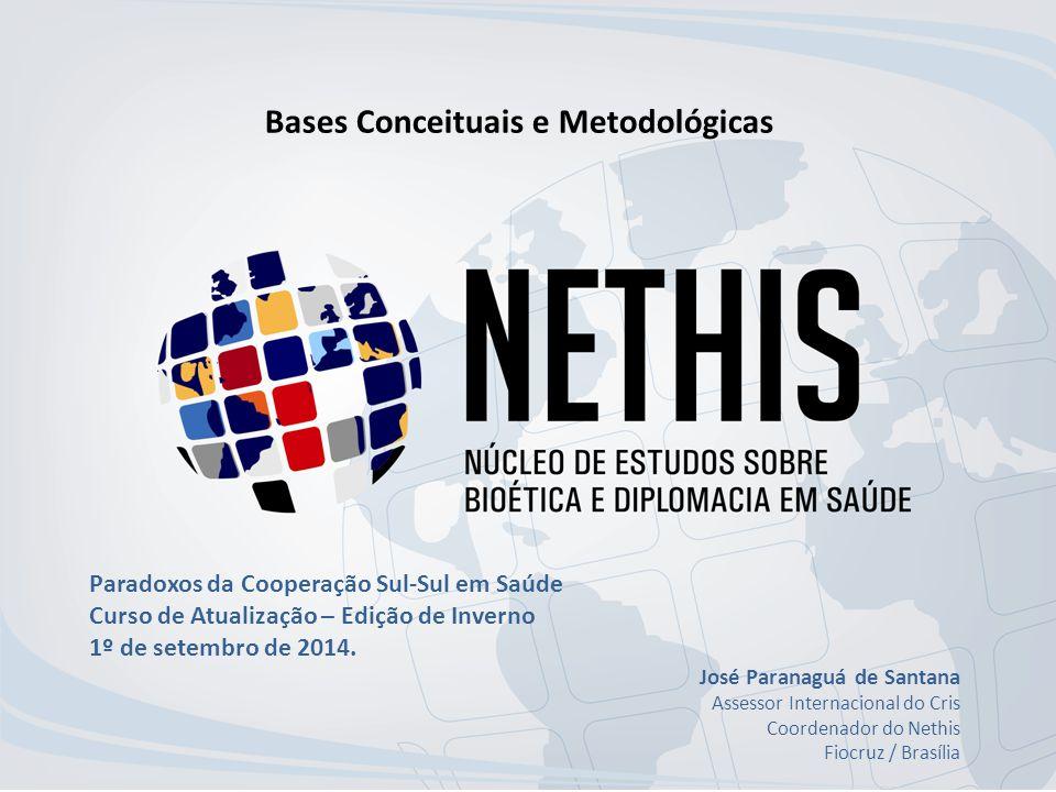 Bases Conceituais e Metodológicas Paradoxos da Cooperação Sul-Sul em Saúde Curso de Atualização – Edição de Inverno 1º de setembro de 2014.