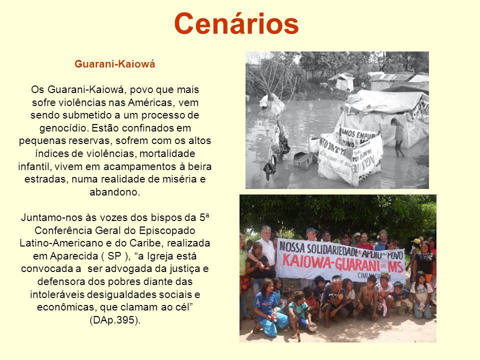 Cenários Guarani-Kaiowá Os Guarani-Kaiowá, povo que mais sofre violências nas Américas, vem sendo submetido a um processo de genocídio.