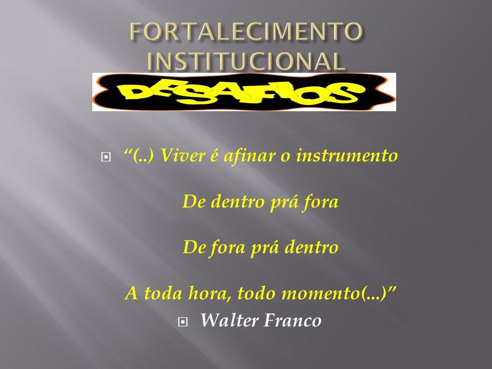 """ """"(..) Viver é afinar o instrumento De dentro prá fora De fora prá dentro A toda hora, todo momento(...)""""  Walter Franco"""