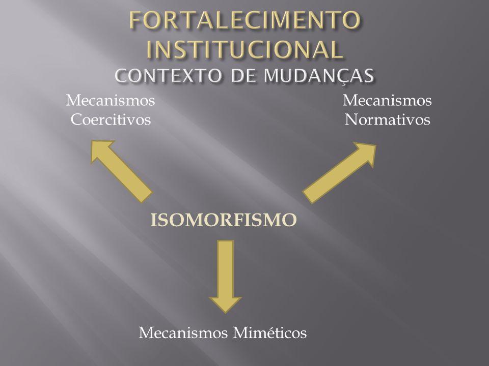 2 – Entender o FORTALECIMENTO INSTITUCIONAL como um processo de intervenção em um ORGANISMO SOCIAL, equivalendo a uma ação de DESENVOLVIMENTO.