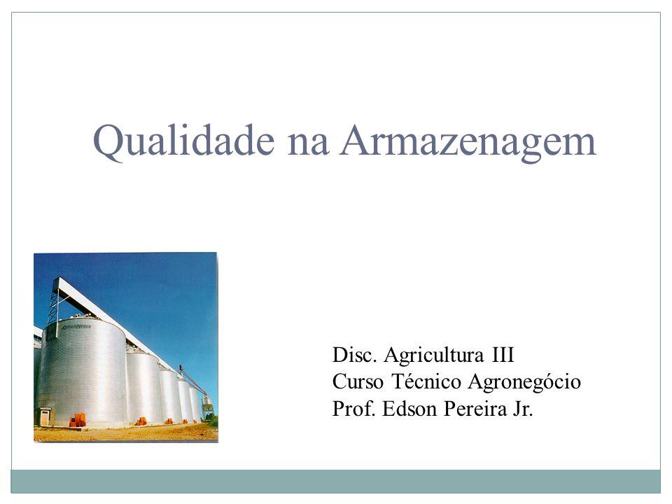 Qualidade na Armazenagem Disc. Agricultura III Curso Técnico Agronegócio Prof. Edson Pereira Jr.