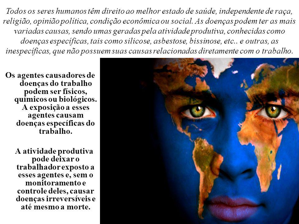 Todos os seres humanos têm direito ao melhor estado de saúde, independente de raça, religião, opinião política, condição econômica ou social. As doenç
