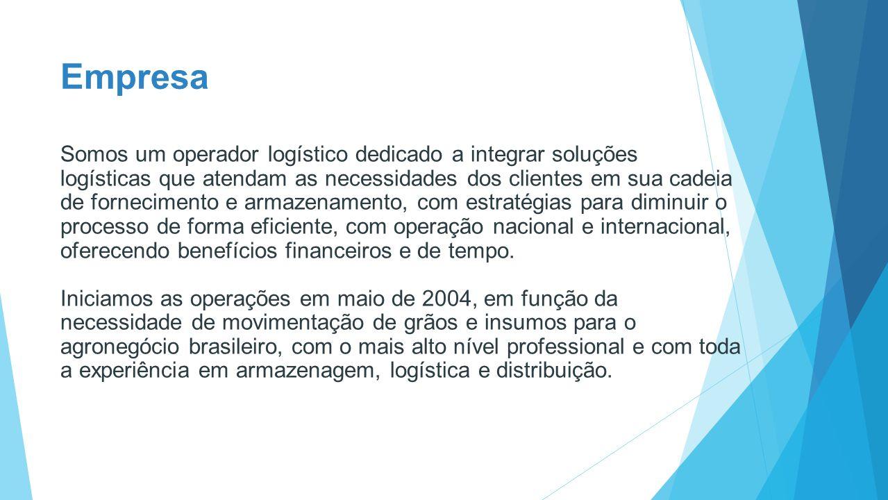 Empresa Somos um operador logístico dedicado a integrar soluções logísticas que atendam as necessidades dos clientes em sua cadeia de fornecimento e a