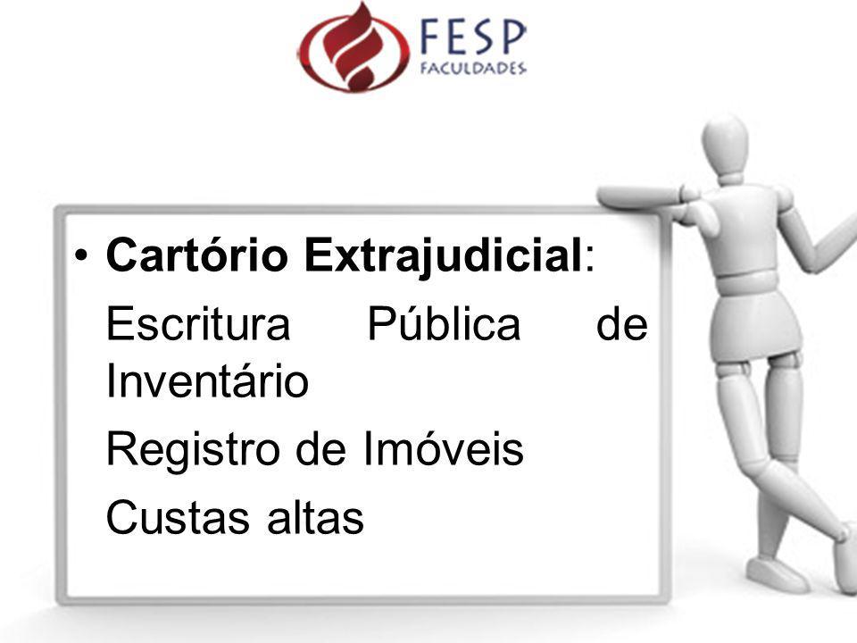 Cartório Extrajudicial: Escritura Pública de Inventário Registro de Imóveis Custas altas