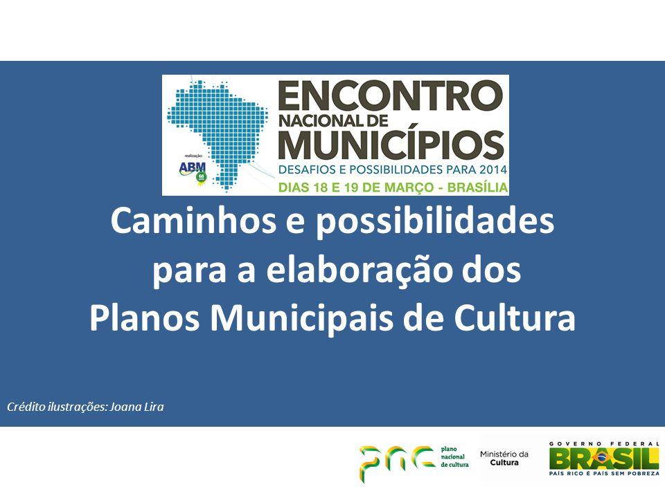 Caminhos e possibilidades para a elaboração dos Planos Municipais de Cultura Crédito ilustrações: Joana Lira