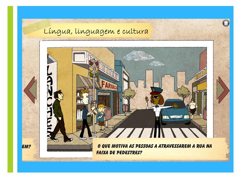 + Linguagem Quando o homem cria um novo sentido para uma palavra, cria novas maneiras para expressar significados, traduz em texto suas experiências e o mundo em que vive.