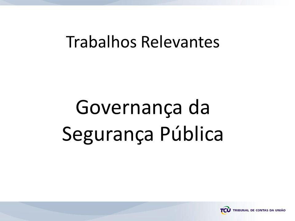 Trabalhos Relevantes Governança da Segurança Pública