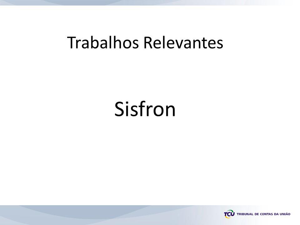 Trabalhos Relevantes Sisfron