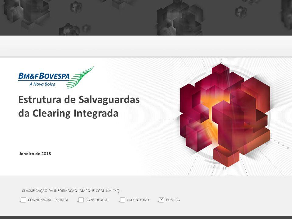 """Estrutura de Salvaguardas da Clearing Integrada Janeiro de 2013 CLASSIFICAÇÃO DA INFORMAÇÃO (MARQUE COM UM """"X""""): CONFIDENCIAL RESTRITACONFIDENCIALUSO"""