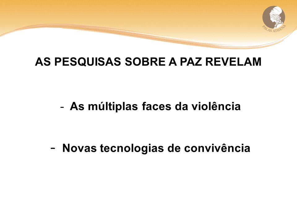 AS PESQUISAS SOBRE A PAZ REVELAM – As múltiplas faces da violência – Novas tecnologias de convivência