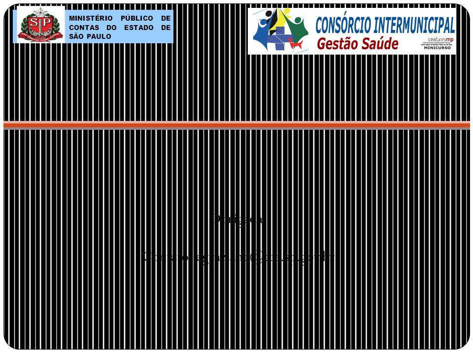 Obrigada! Contato: egraziane@tce.sp.gov.br MINISTÉRIO PÚBLICO DE CONTAS DO ESTADO DE SÃO PAULO