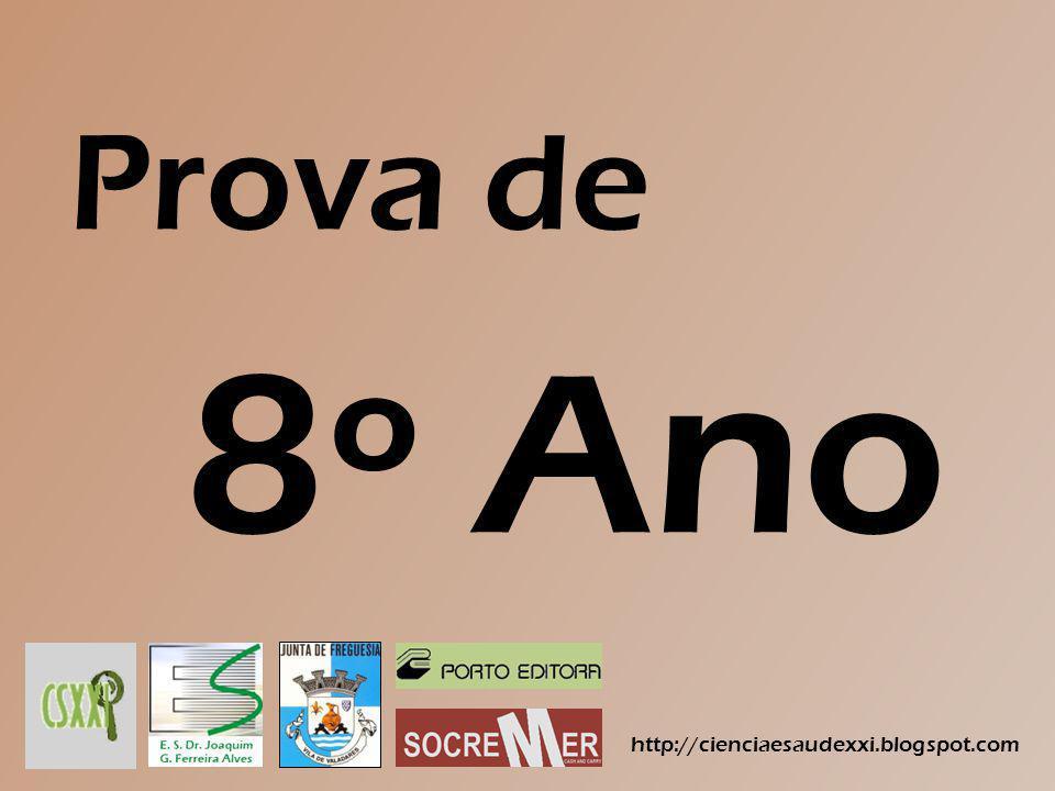 Prova de 8º Ano http://cienciaesaudexxi.blogspot.com