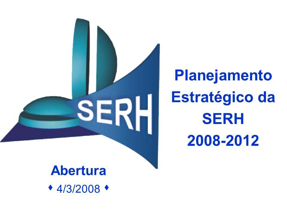 Planejamento Estratégico da SERH 2008-2012 Abertura  4/3/2008 