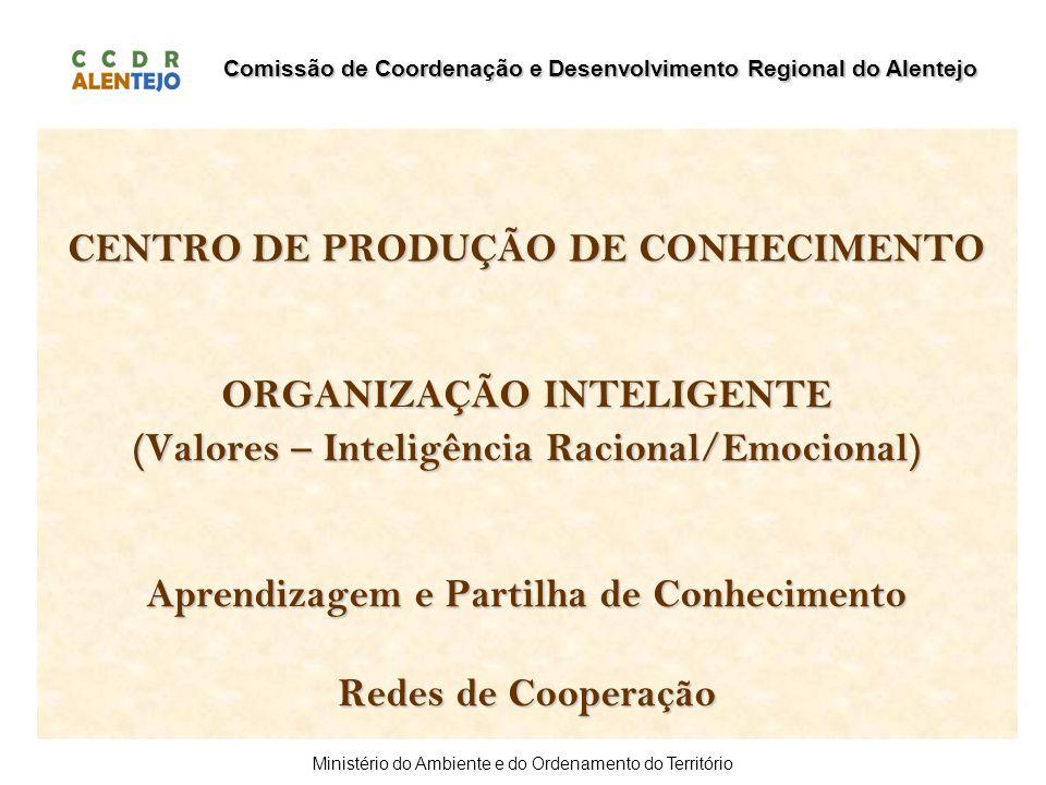 Comissão de Coordenação e Desenvolvimento Regional do Alentejo Ministério do Ambiente e do Ordenamento do Território CENTRO DE PRODUÇÃO DE CONHECIMENT