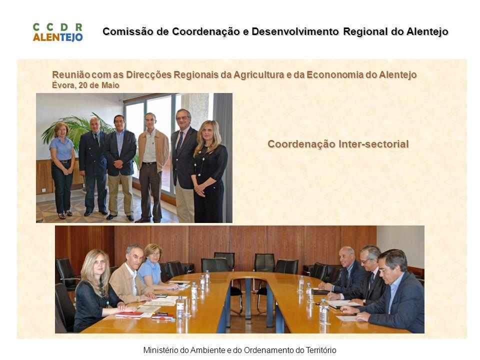 Comissão de Coordenação e Desenvolvimento Regional do Alentejo Ministério do Ambiente e do Ordenamento do Território Reunião com as Direcções Regionai