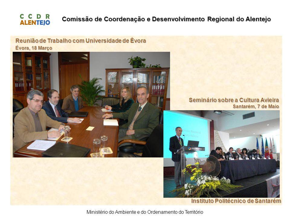 Comissão de Coordenação e Desenvolvimento Regional do Alentejo Ministério do Ambiente e do Ordenamento do Território Instituto Politécnico de Santarém
