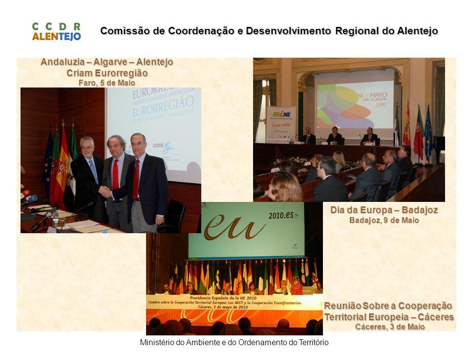 Comissão de Coordenação e Desenvolvimento Regional do Alentejo Ministério do Ambiente e do Ordenamento do Território Andaluzia – Algarve – Alentejo Cr