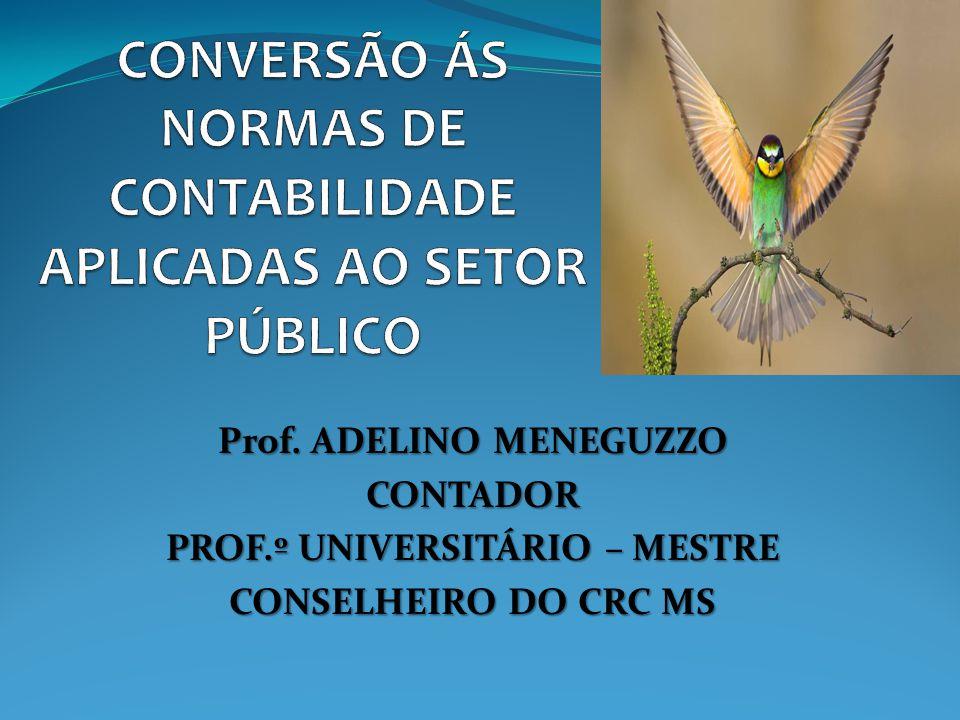 Prof. ADELINO MENEGUZZO CONTADOR PROF.º UNIVERSITÁRIO – MESTRE CONSELHEIRO DO CRC MS