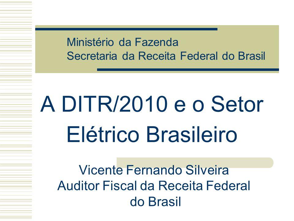 A DITR/2010 e o Setor Elétrico Brasileiro Vicente Fernando Silveira Auditor Fiscal da Receita Federal do Brasil Ministério da Fazenda Secretaria da Re