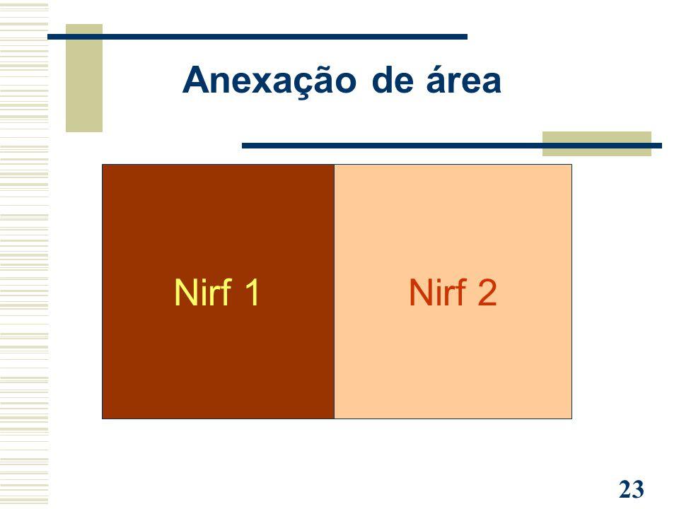 23 Anexação de área Nirf 1Nirf 2