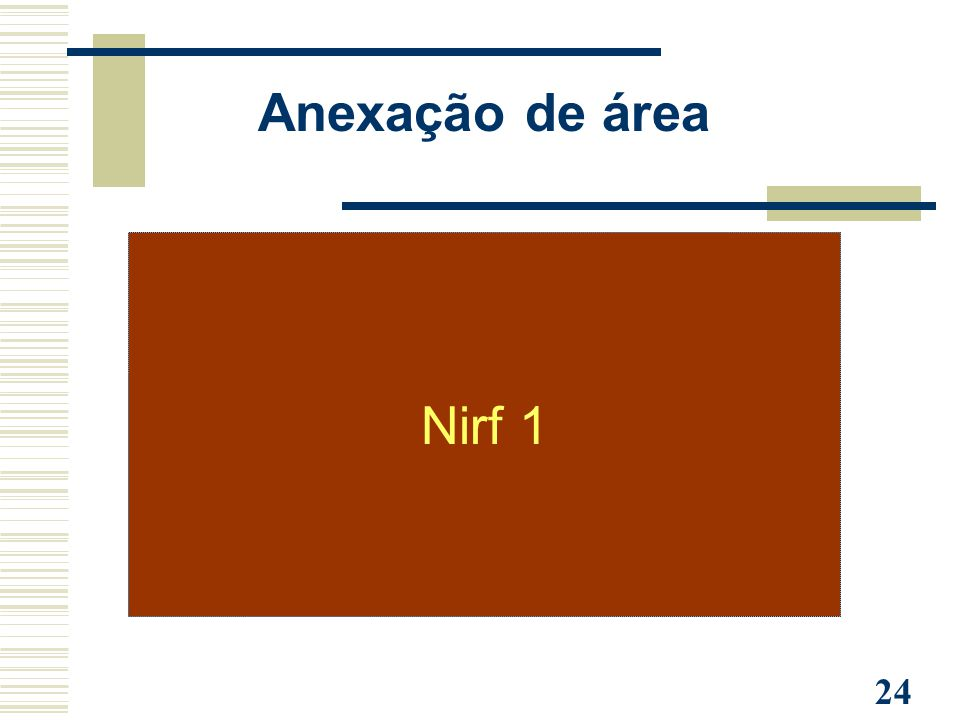 24 Nirf 1 Anexação de área