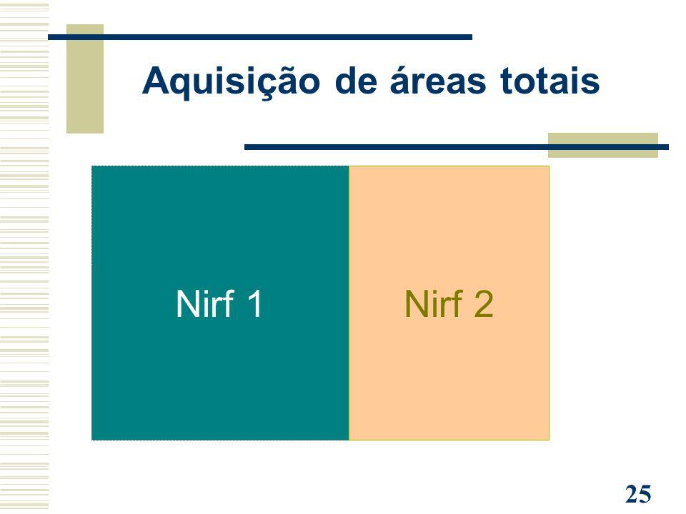 25 Aquisição de áreas totais Nirf 1Nirf 2