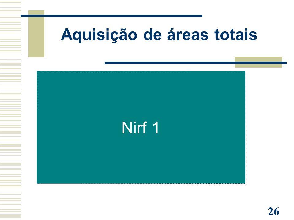 26 Nirf 1 Aquisição de áreas totais