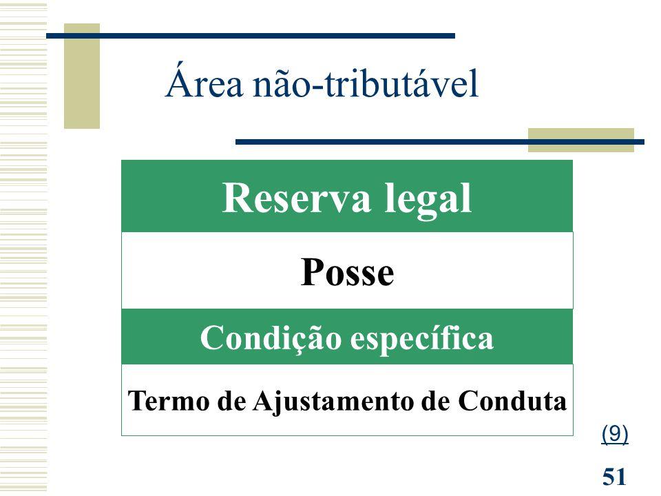 51 Condição específica Posse Reserva legal Termo de Ajustamento de Conduta Área não-tributável (9)