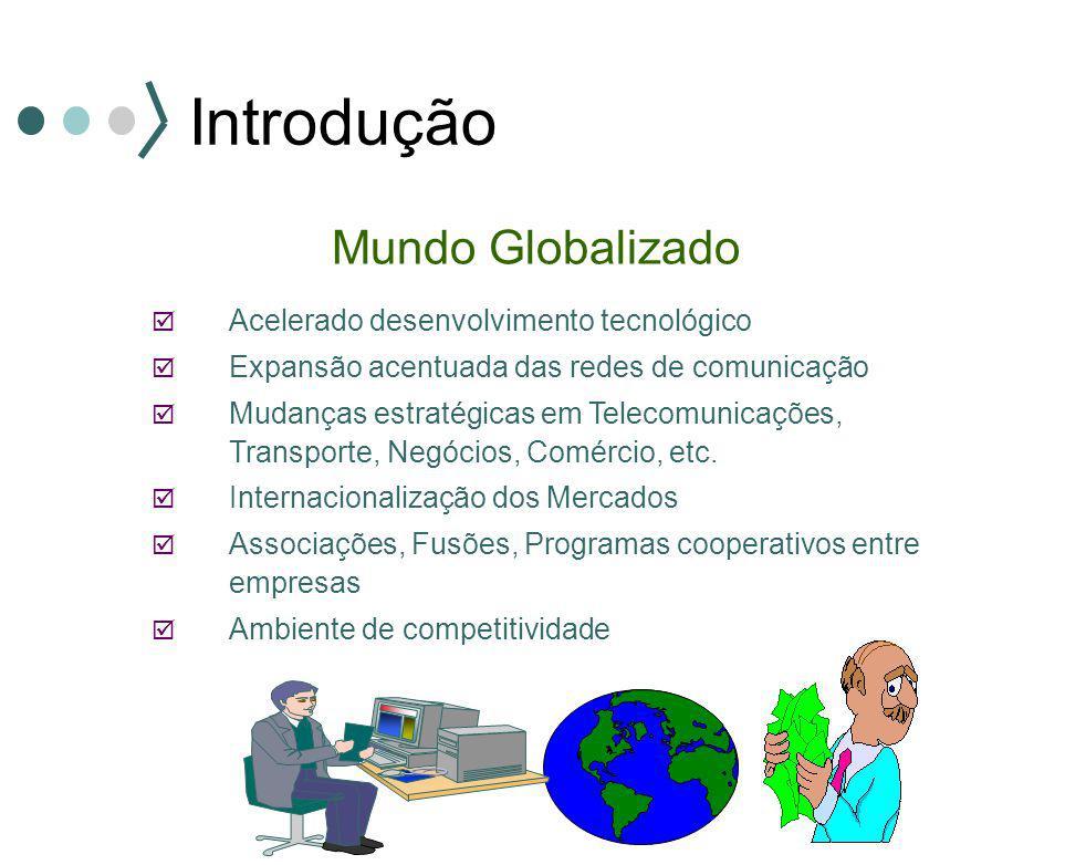 Introdução Mundo Globalizado  Acelerado desenvolvimento tecnológico  Expansão acentuada das redes de comunicação  Mudanças estratégicas em Telecomu