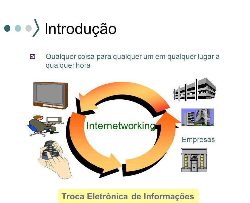  Qualquer coisa para qualquer um em qualquer lugar a qualquer hora Troca Eletrônica de Informações Internetworking Empresas Introdução