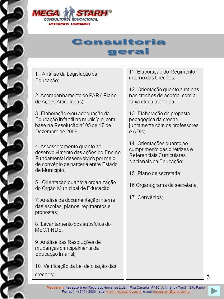 3 1.Análise da Legislação da Educação; 2. Acompanhamento do PAR ( Plano de Ações Articuladas); 3.