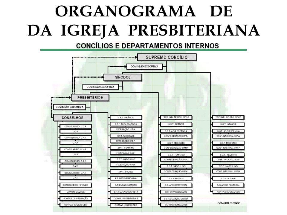 ORGANOGRAMA DE DA IGREJA PRESBITERIANA