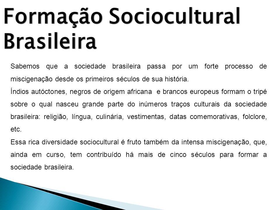 Sabemos que a sociedade brasileira passa por um forte processo de miscigenação desde os primeiros séculos de sua história. Índios autóctones, negros d