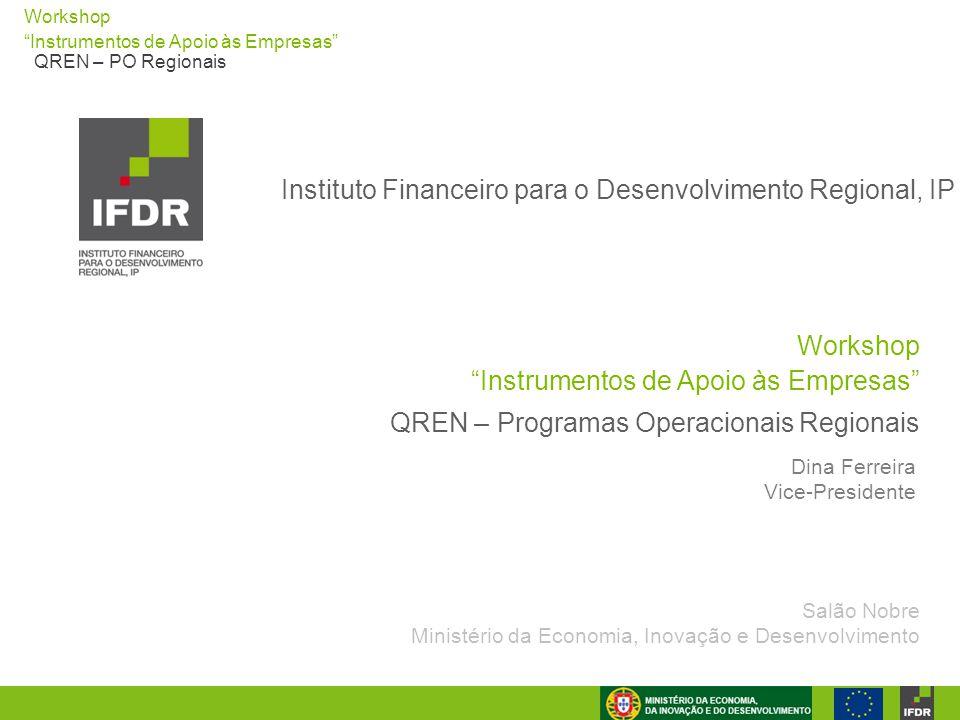 """Workshop """"Instrumentos de Apoio às Empresas"""" QREN – PO Regionais Workshop """"Instrumentos de Apoio às Empresas"""" Instituto Financeiro para o Desenvolvime"""