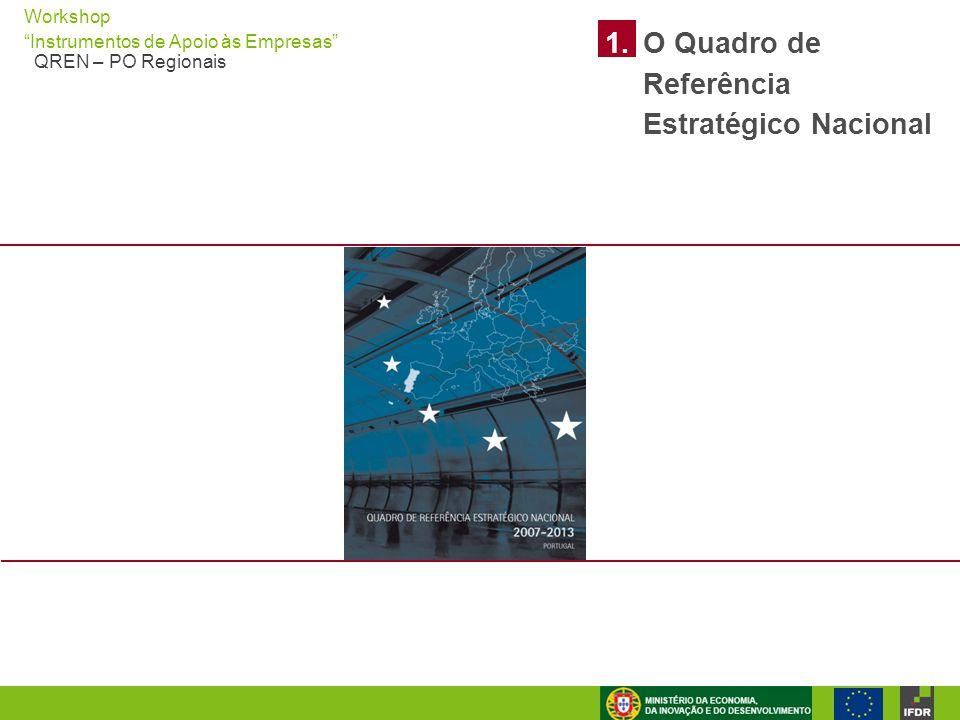 """Workshop """"Instrumentos de Apoio às Empresas"""" QREN – PO Regionais 1.O Quadro de Referência Estratégico Nacional"""