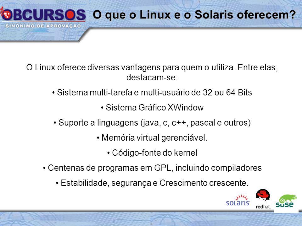 O Linux oferece diversas vantagens para quem o utiliza.