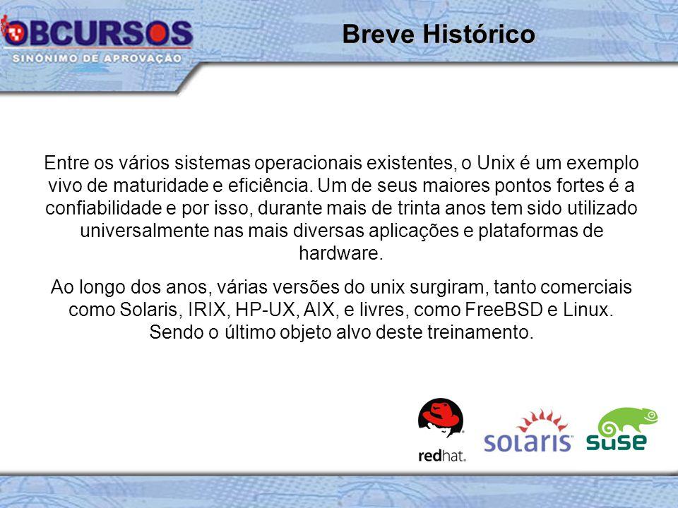 Entre os vários sistemas operacionais existentes, o Unix é um exemplo vivo de maturidade e eficiência.