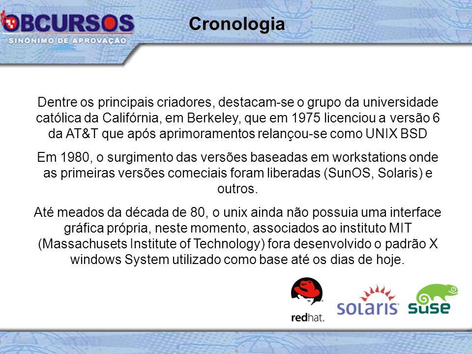 Dentre os principais criadores, destacam-se o grupo da universidade católica da Califórnia, em Berkeley, que em 1975 licenciou a versão 6 da AT&T que após aprimoramentos relançou-se como UNIX BSD Em 1980, o surgimento das versões baseadas em workstations onde as primeiras versões comeciais foram liberadas (SunOS, Solaris) e outros.