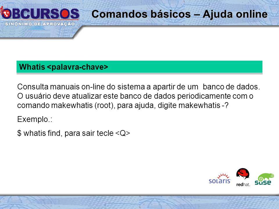 Whatis Consulta manuais on-line do sistema a apartir de um banco de dados.