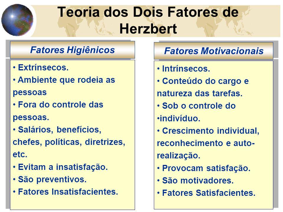 16 Teoria dos Dois Fatores de Herzbert Extrínsecos.