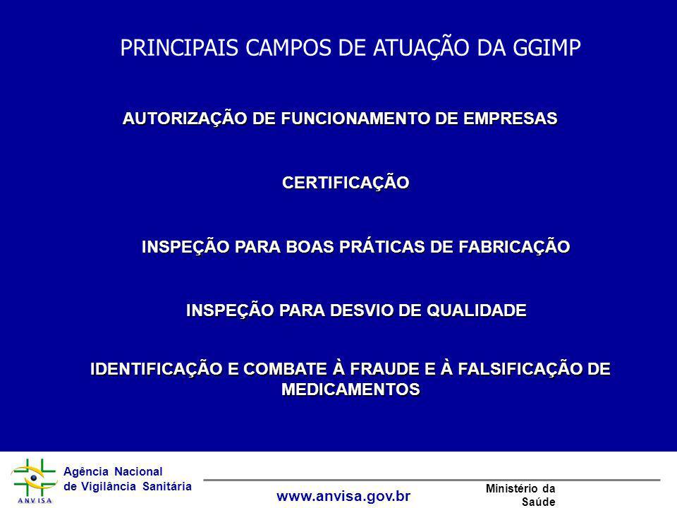 Agência Nacional de Vigilância Sanitária www.anvisa.gov.br Ministério da Saúde AUTORIZAÇÃO DE FUNCIONAMENTO DE EMPRESAS CERTIFICAÇÃO INSPEÇÃO PARA BOA