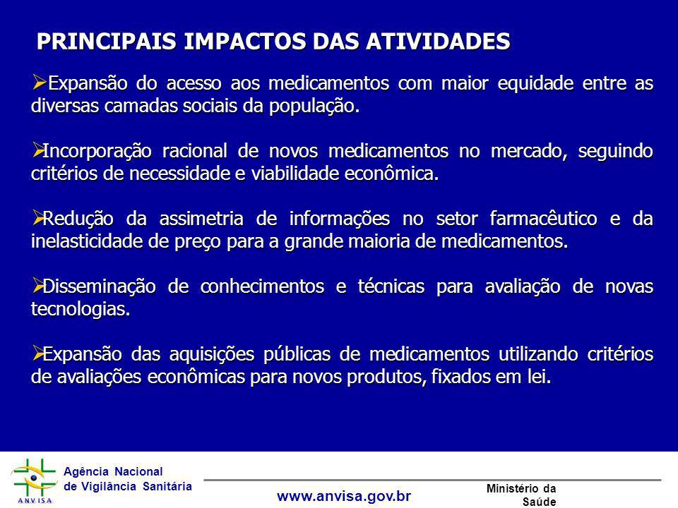 Agência Nacional de Vigilância Sanitária www.anvisa.gov.br Ministério da Saúde  Expansão do acesso aos medicamentos com maior equidade entre as diver