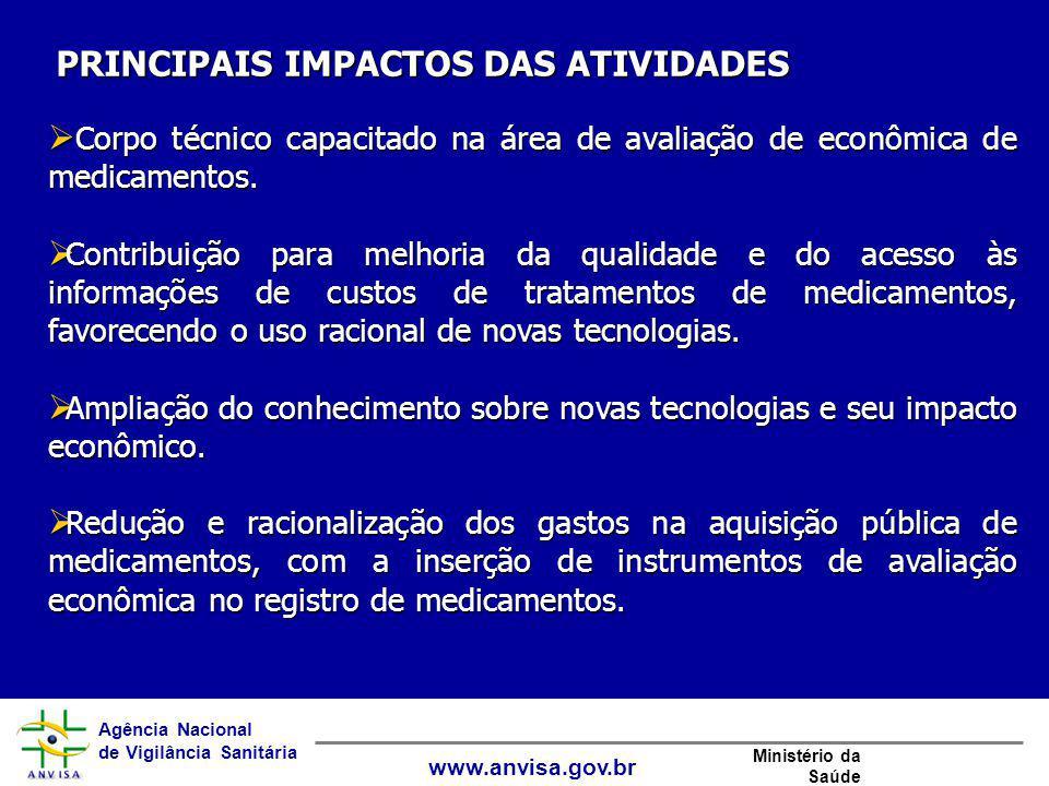 Agência Nacional de Vigilância Sanitária www.anvisa.gov.br Ministério da Saúde  Corpo técnico capacitado na área de avaliação de econômica de medicam