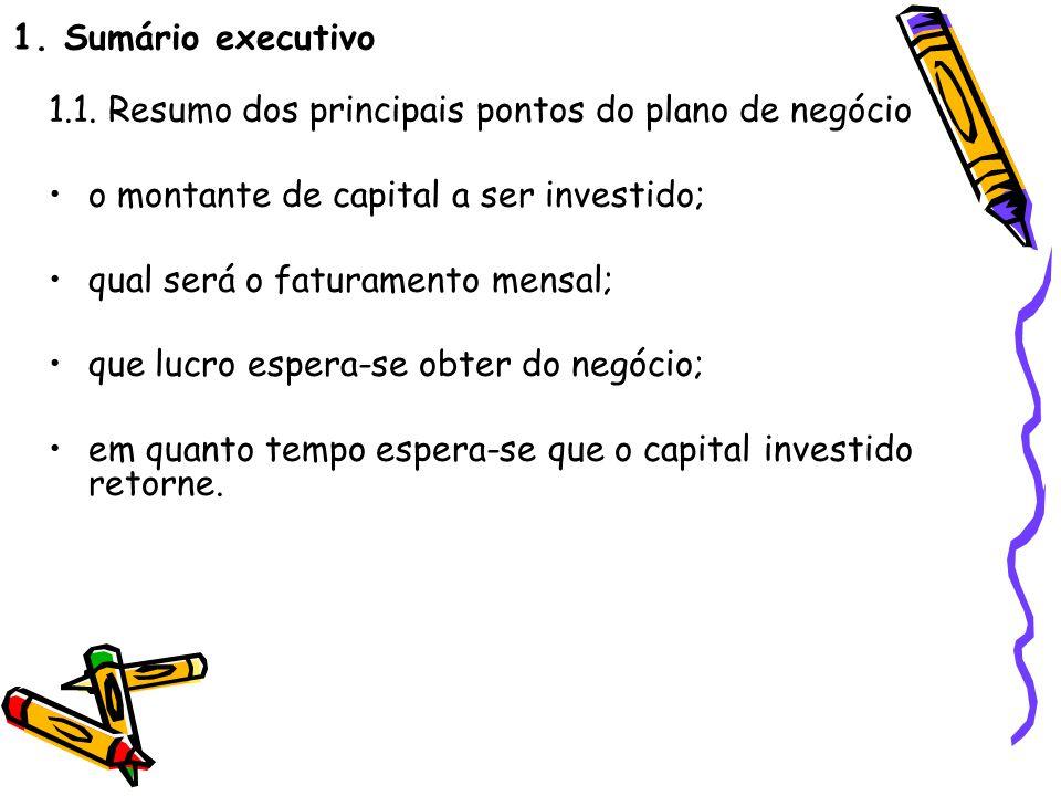 1.Sumario executivo Exemplo: 1.5.