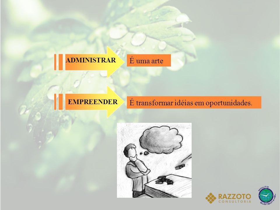 EMPREENDEDOR E ADMNISTRADOR: DIFERENÇAS 1-) Quanto à orientação estratégica: o Empreendedor tem a percepção de oportunidade, já o Administrador guia-se pelos critérios de desempenho.