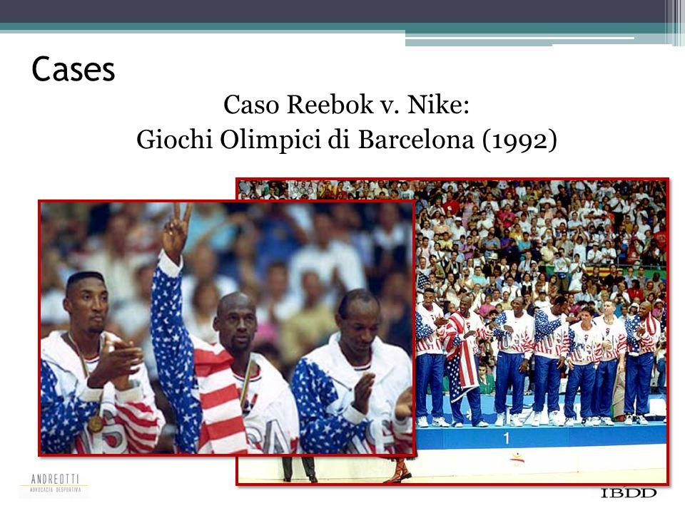 Cases Caso Reebok v. Nike: Giochi Olimpici di Barcelona (1992)