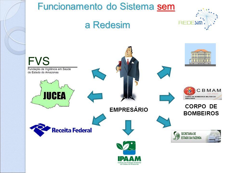 EMPRESÁRIO CORPO DE BOMBEIROS Funcionamento do Sistema sem a Redesim a Redesim