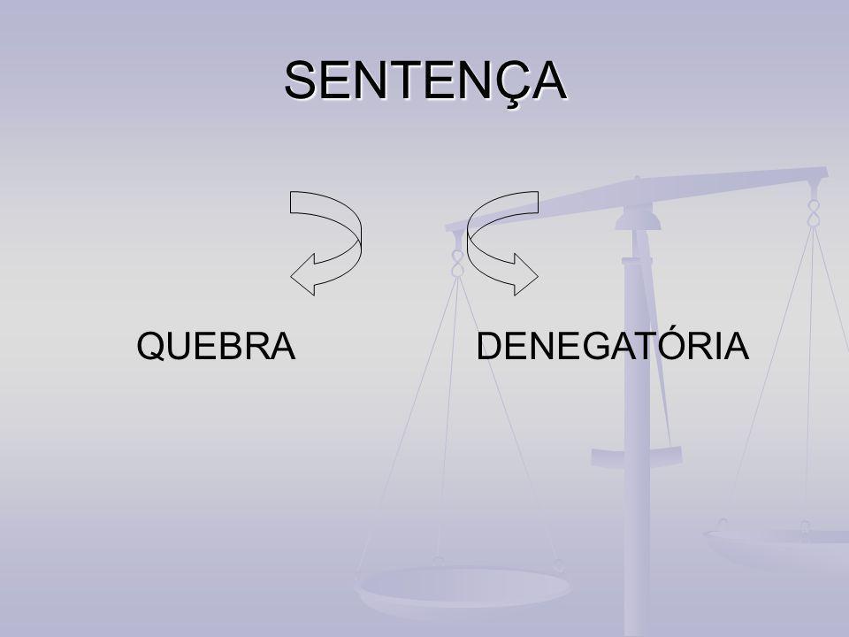 SENTENÇA QUEBRADENEGATÓRIA