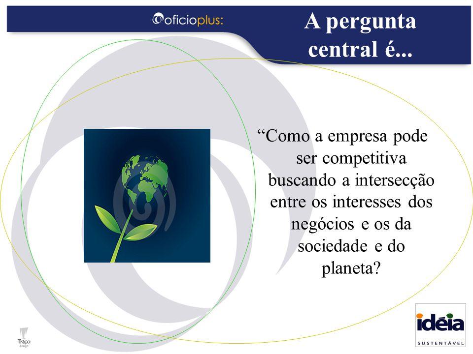 """""""Como a empresa pode ser competitiva buscando a intersecção entre os interesses dos negócios e os da sociedade e do planeta? A pergunta central é..."""