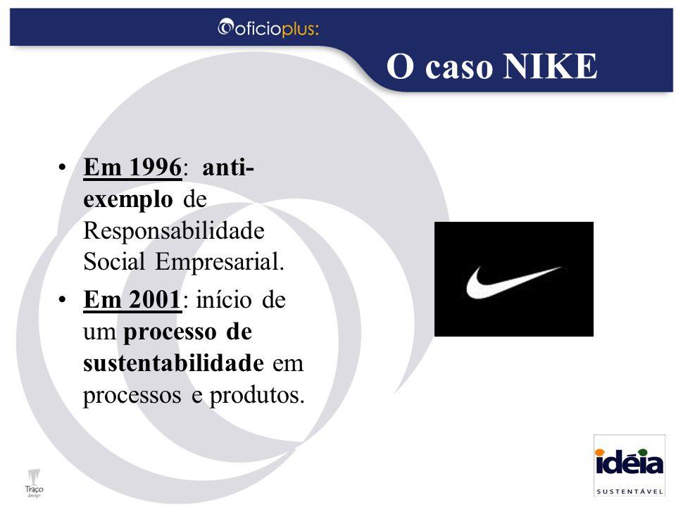 Em 1996: anti- exemplo de Responsabilidade Social Empresarial. Em 2001: início de um processo de sustentabilidade em processos e produtos.